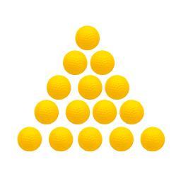 Practice Golf Balls- Pack of 15 (Orange)