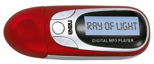 Naxa Nm-105 Naxa Red Mp3 Player With 4Gb Built In Flash Memory Lcd Display