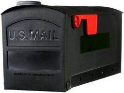 """Rubbermaid Mb505b01 Plastic Mailbox, 20-1/4"""" X 9-1/2"""" X 8-1/4"""", Black"""