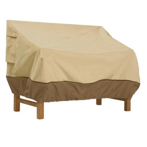 Classic Accessories 55-649-021501-00 Veranda Small Deep Sofa Loveseat Cover Pebble - Small