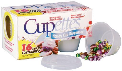 Cupettes Heavy-Duty Cups & Lids 16/Pkg-1.75oz Clear BTYVDE9VLHMZVDC5