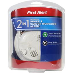First Alert Battery-Powered Electrochemical/Ionization Smoke and Carbon Monoxide Detector - Case Of: 1;
