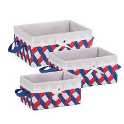 HoneyCanDo STO-06676 Twisted Tote, Red, White & Blue - Set of 3 YMUHGPY63QN6RBKE