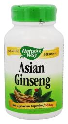 Nature's Way Korean Ginseng Root - 100 Capsules