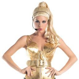 Madonna Blonde Ponytail Wig Costume Concert Blond Ambition Tour Express Yourself