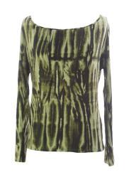 VELVET by Graham & Spencer Women's Flora Cutout Back Blouse Medium Army