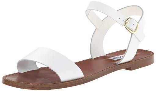 fb78bbc2d9a Steve Madden Womens DONDDI Leather Open Toe Casual Slide Sandals