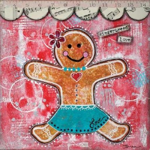 Gingerbread Love Poster Print by Denise Braun X8LFO5HVNNZN59M9