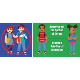 Flipside products kids social distance floor stickers