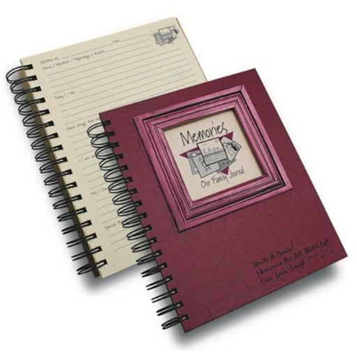 Journals Unlimited CJ-26 Memories - Our Family Journal Book, Cranberry