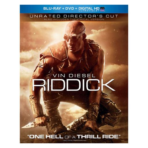 Riddick (blu ray/dvd combo w/unrated cut/digital hd w/uv-nla RY9PI0KUVZBAS1BV