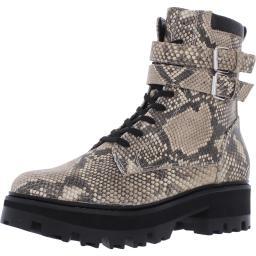 Dolce Vita Womens Paline Leather Lug Sole Combat Boots