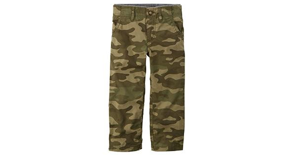 Carter's Baby Boys' Pull-On Jersey Lined Camo Pants – 3 Months