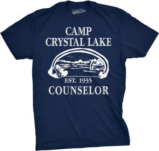 Mens Camp Crystal Lake T shirt Funny Shirts Camping Vintage Horror Novelty Tees