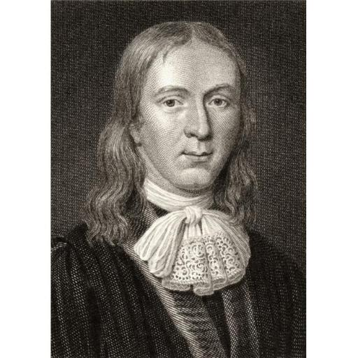 Posterazzi DPI1859615LARGE John Milton 1608-1674 English Poet 19th Century Engraved by Charles Pye From The Painting by C. Janfsen Poster Print, Large