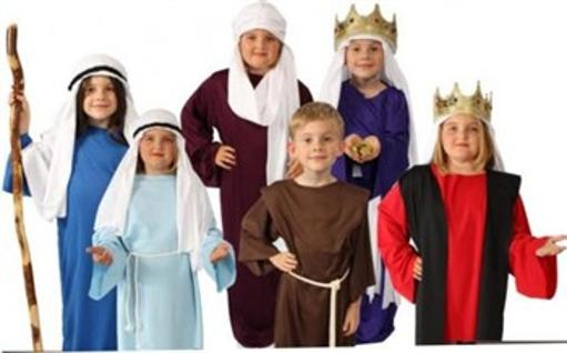 Story of Christ Biblical Gown Child Costume White, Brown, Burgundy, Red, Black, Dark Blue, Light Blue, Purple, Natural off white Child M (8-10),Child S.