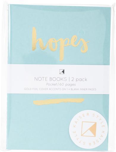 "Kaiser Style Pocket Notebooks 4""X6"" 60 Pages 2/Pkg-Bloom; Blank 9YMEJ1LFQ4HXOQ9Z"
