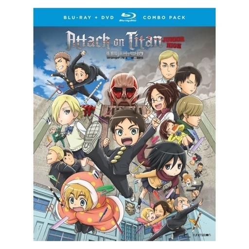 Attack on titan-junior high-complete series (blu-ray/dvd combo/4 disc) 1304033