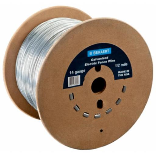 Bekaert 210334 0.25 Mile Electric Fence Wire - 14 Gauge