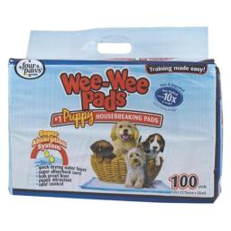 Four Paws - Wee Wee Pads Puppies 100 Count - 100202089-01639
