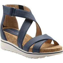 Adrienne Vittadini Womens Chita Open Toe Ankle Wedge Sandals