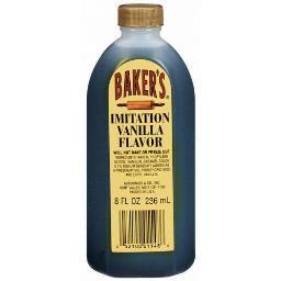 Baker's Imitation Vanilla Flavor 8 oz Bottle