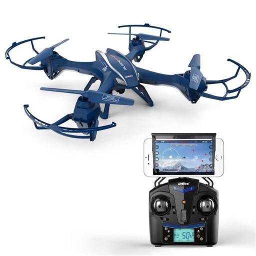 UDIR-C EC16239 WiFi FPV Quadcopter Drone with HD Camera - First Person View and VR Live Streaming - Blue