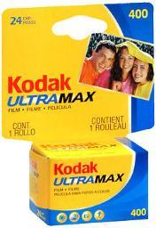 Kodak UltraMax Film 400 Speed 24 Exposures - 1 Each, Pack of 3