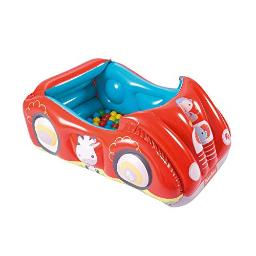Bestway Fisherprice Inflatable Ball Pit Fun Red Race Car Theme Indoor & Outdoor Play For Kids