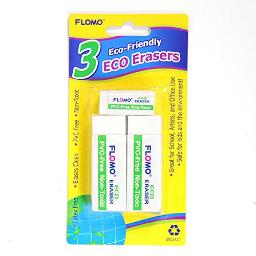 White Eco Friendly Erasers 15 Count Non Toxic Latex Free Erasers Made From Biodegradable Materials