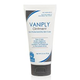 Vaniply Ointment Tube -Skin Protectant - Gently Soothes Dry, Irritated, Itchy Skin and Chaffing - Dermatologist Tested - Preservative Free - 2.5 ounce