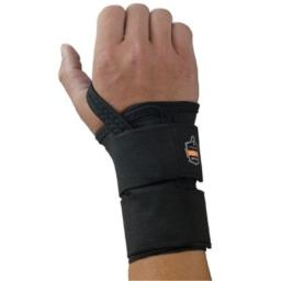 Ergodyne X-Large Black ProFlex 4010 Elastic Double Strap Left Hand Wrist Support With Two-Stage Hook And Loop Closure And Open-Center Stay