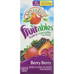 Apple & Eve Fruitables Fruit and Vegetable, Berry,6.75 fl oz (8 count)