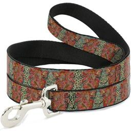 Buckle-Down Dog Leash Tattoo Johnny Andrea Red Fairy 3 4 Feet Long 1.0 Inch Wide