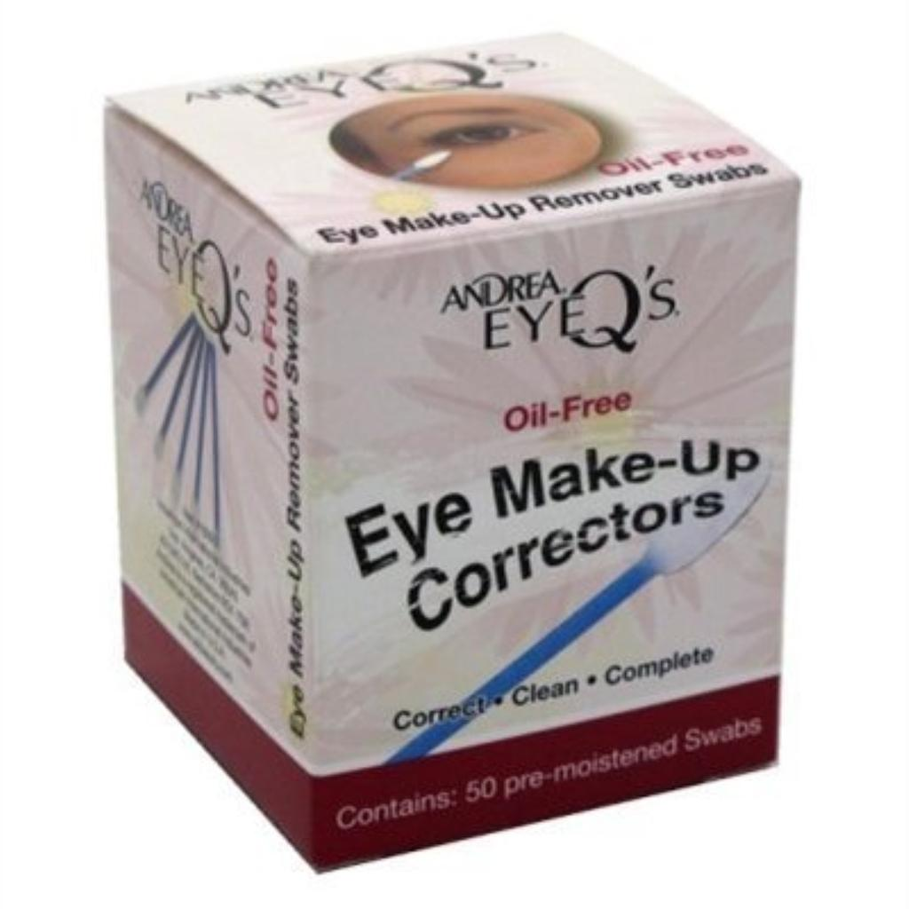 Andrea Eye Q's Eye Make-Up Correctors Swabs 50 Count (2 Pack)