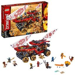LEGO NINJAGO Land Bounty 70677 Toy Truck Building Set with Ninja Minifigures, Popular Action Toy with Two Toy Vehicles and Toy Ninja Weapons for Creative Play (1,178 Pieces)