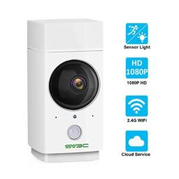 Pet Camera SV3C Wireless IP Camera 1080P WiFi Camera Indoor 360-degree Nanny Cam for BabyElderPuppyMotion TrackingColor Night Vision with Sensor LightTwo-Way AudioSupport SD CardCloudAlexa