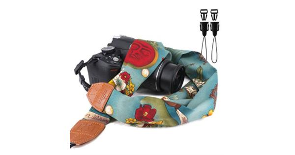 Elvam Universal Men and Women Scarf Camera Strap Belt Compatible for All DSLR Camera SLR Camera Instant Camera and Digital Camera - Green Tropical... Elvam Universal Men and Women Scarf Camera Strap Belt Compatible for All DSLR Camera SLR Camera Instant Camera and Digital Camera - Green Tropical Floral Pattern