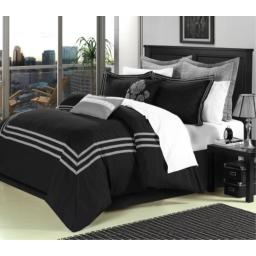 Cosmo Black Queen 12 Piece Comforter Bed In A Bag Set With Sheet Set