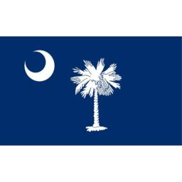 Valley Forge Flag 4-Foot by 6-Foot Nylon South Carolina State Flag with Canvas Header and Grommets