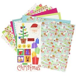 "DOODLEBUG 5182 Paper Plus Value Supplies (12 Pack), 12"" x 12"", Bright Christmas, Multicolor"