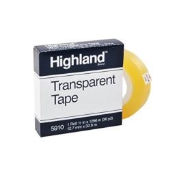 Highland Transparent and Invisible Tapes (MMM5910121296)