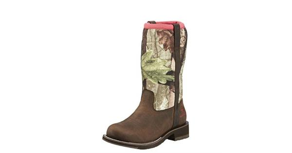 Ariat Women's Fatbaby All Weather Western Cowboy Boot, Palm Brown/Camo Neoprene, 11 M US thumbnail