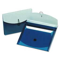 Pendaflex 50965 Slide Files with Four Pockets, Letter Size, Blue/Silver, 1 Each (50965)