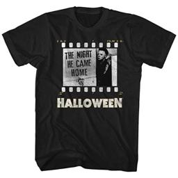 American Classics Halloween Movies Film Strip Adult Short Sleeve T Shirt XT