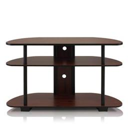Furinno 99603DC/BK Turn-N-Tube 3-Tier Entertainment Center, Dark Cherry/Black