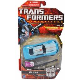 Transformers Generations Series Deluxe Class 6 Inch Tall Robot Action Figure - BLURR with Dual Laser Blasters (Vehicle Mode: Courier Car) by Hasbro