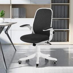 VECELO Home Office Chair with Flip-up Arms and Adjustable Height