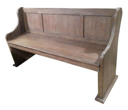 Distressed Wire Brushed Wooden Bench, Brown