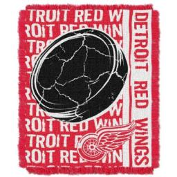 "The Northwest Company NHL Detroit Red Wings Double Play Jacquard Throw, 48"" x 60"""